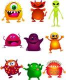 Coleção engraçada dos desenhos animados do monstro Fotos de Stock Royalty Free