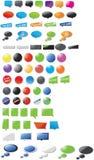 Coleção enorme de bolhas projetadas modernas do discurso Foto de Stock