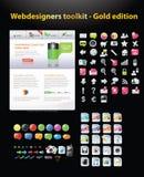 Coleção enorme de gráficos do Web Fotografia de Stock