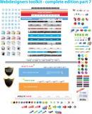 Coleção enorme de gráficos do Web Fotos de Stock