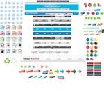 Coleção enorme de gráficos do Web Imagem de Stock Royalty Free