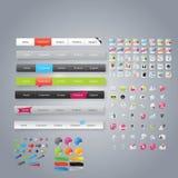Coleção enorme de gráficos do Web Imagens de Stock