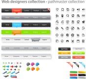 Coleção enorme de gráficos do Web Imagens de Stock Royalty Free