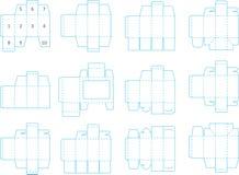 Coleção 01 eps do molde da caixa ilustração royalty free