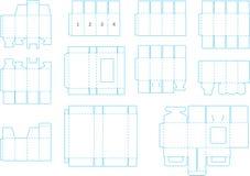 Coleção 05 eps do molde da caixa ilustração do vetor