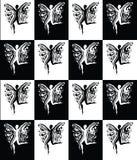 Coleção esvoaçando da mulher preto e branco Fotografia de Stock Royalty Free
