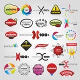 Coleção exclusiva dos ícones Imagens de Stock Royalty Free
