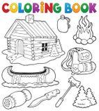 Coleção exterior dos objetos do livro para colorir Foto de Stock Royalty Free