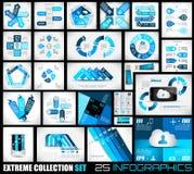 Coleção extrema do fundo de Infographics de 25 qualidades. Fotografia de Stock Royalty Free