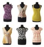 Coleção fêmea #2 das blusas   Isolado Imagens de Stock