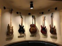 Coleção famosa da guitarra fotografia de stock
