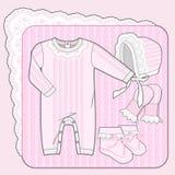 Coleção feita malha rosa Imagens de Stock Royalty Free