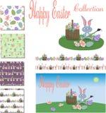 Coleção feliz da Páscoa ilustração royalty free