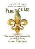 Coleção Fleur de Lis da cultura de Nova Orleães ilustração stock