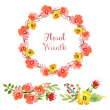 Coleção floral da aquarela Imagem de Stock Royalty Free