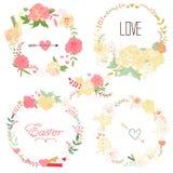 Coleção floral do quadro Imagem de Stock Royalty Free