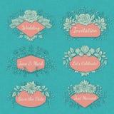 Coleção floral do quadro do vetor Imagem de Stock Royalty Free