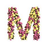 Coleção floral florescida da letra do alfabeto fotos de stock royalty free