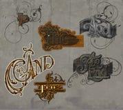 Coleção gráfica da palavra do texto Ilustração do Vetor
