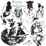 Coleção grande 2 dos pirattes Fotos de Stock Royalty Free