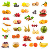 Coleção grande das frutas Fotografia de Stock