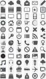 Coleção grande de ícones diferentes. ilustração stock