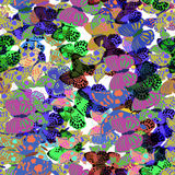 Coleção grande de borboletas coloridas Vetor Imagem de Stock