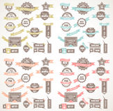 Coleção grande de etiquetas da qualidade com versão de 4 cores Imagens de Stock