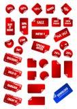 Coleção grande de etiquetas de preço pegajoso do vetor. Fotografia de Stock Royalty Free