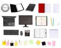 Coleção grande de fontes do negócio e de escritório. Foto de Stock Royalty Free