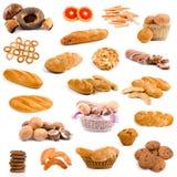 Coleção grande do pão Fotografia de Stock Royalty Free