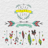 Coleção Hand-drawn das setas Imagem de Stock Royalty Free
