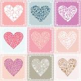 Coleção heart2 Fotografia de Stock Royalty Free
