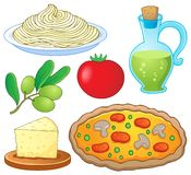 Coleção italiana 1 do alimento Fotografia de Stock Royalty Free