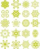 Coleção laçado verde dos ornamento Fotos de Stock Royalty Free