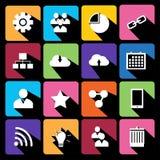 Coleção lisa moderna do vetor dos ícones. Imagens de Stock
