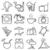 Coleção lisa moderna do vetor dos ícones Imagens de Stock Royalty Free