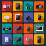 Coleção lisa moderna dos ícones Imagens de Stock Royalty Free
