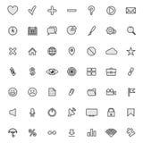 Coleção lisa moderna dos ícones Fotos de Stock