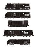 Coleção locomotiva da silhueta Fotos de Stock