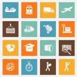 Coleção logística dos pictograma dos serviços Fotografia de Stock Royalty Free