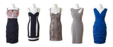 Coleção longa fêmea #2 do vestido | Isolado Imagens de Stock Royalty Free