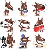 Coleção má do cão ilustração royalty free