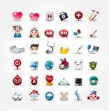 Coleção médica e do hospital dos ícones Imagem de Stock Royalty Free