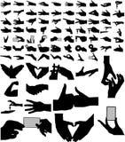 A coleção a maior dos braços, mãos. Fotografia de Stock Royalty Free