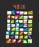 Coleção mega de disposições da onda do negócio Imagens de Stock Royalty Free