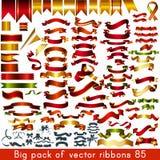 Coleção mega de fitas e de bandeiras do vetor para algum feriado ou ilustração stock