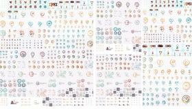 Coleção mega do logotipo Foto de Stock