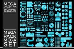 Coleção mega e projeto mega do vetor dos elementos de Infographic do grupo imagem de stock