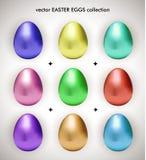 Coleção metálica dos ovos de easter do vetor ilustração do vetor